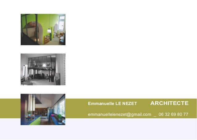 Book emmanuelle le nezet architecte ade et architecte d for Architecte d interieur 95
