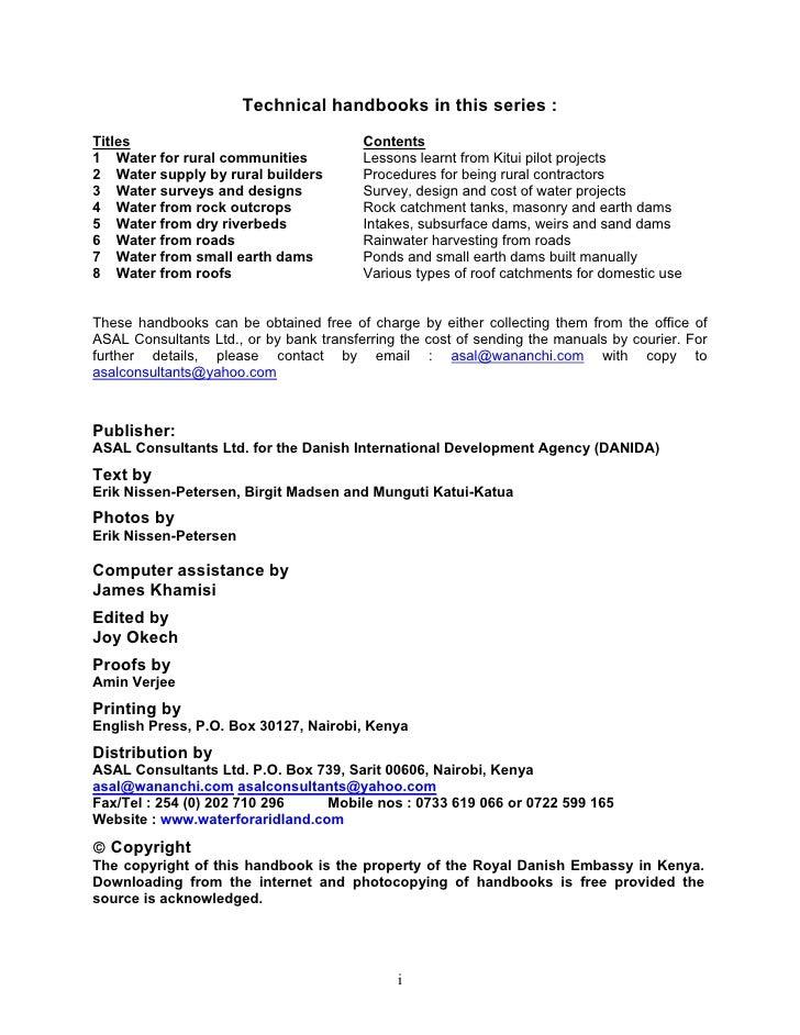 eric nissen-petersen rainwater catchment pdf