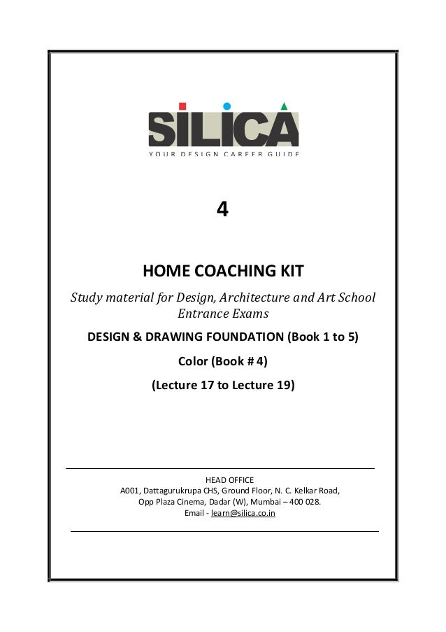 4 HOME COACHING KIT Study material for Design, Architecture and Art School Entrance Exams DESIGN & DRAWING FOUNDATION (Boo...
