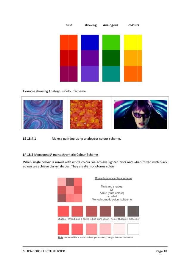 ... 18. Grid showing Analogous colours ...
