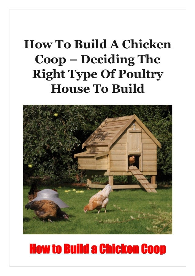 How To Build A Chicken Coop – Deciding The Right Type Of Poultry House To Build How to Build a Chicken Coop