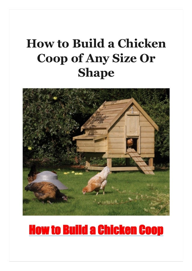 How to Build a Chicken Coop of Any Size Or Shape How to Build a Chicken Coop
