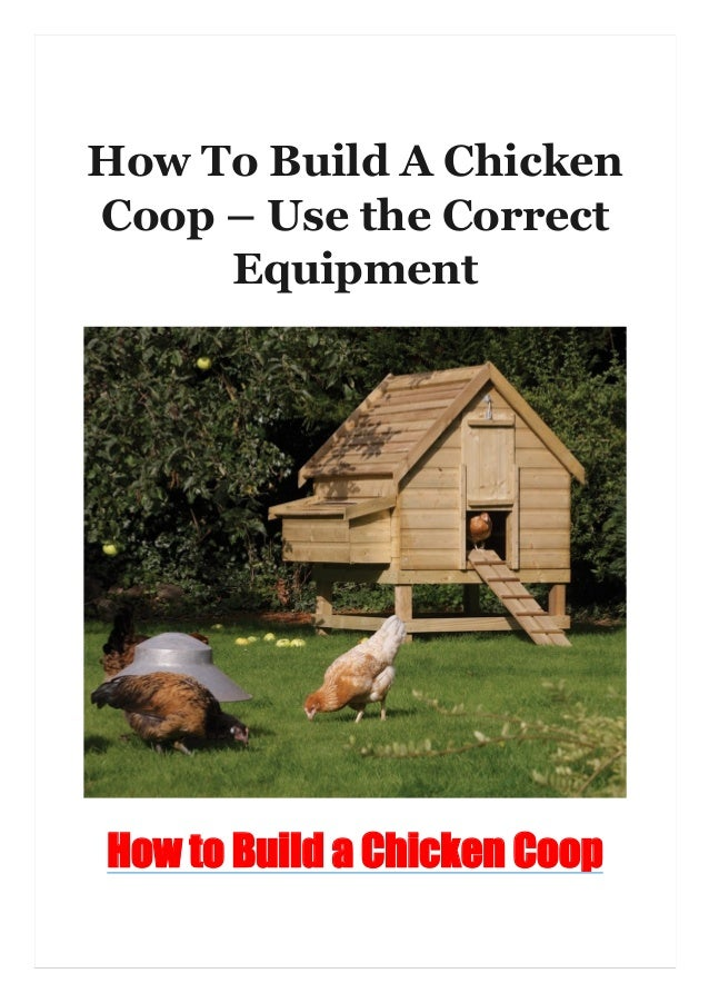 How To Build A Chicken Coop – Use the Correct Equipment How to Build a Chicken Coop
