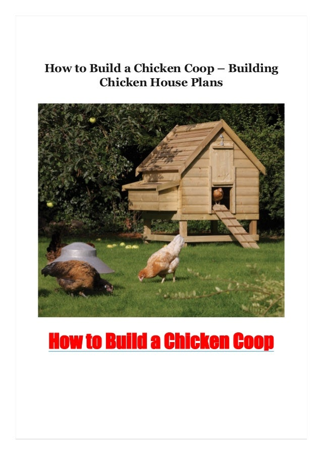 How to Build a Chicken Coop – Building Chicken House Plans How to Build a Chicken Coop