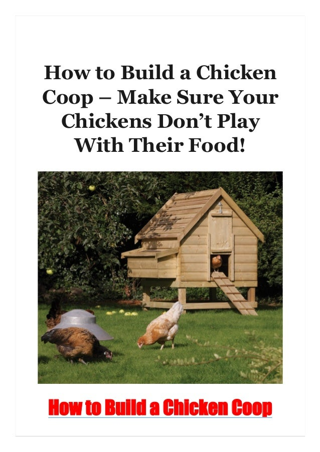 How to Build a Chicken Coop – Make Sure Your Chickens Don't Play With Their Food! How to Build a Chicken Coop