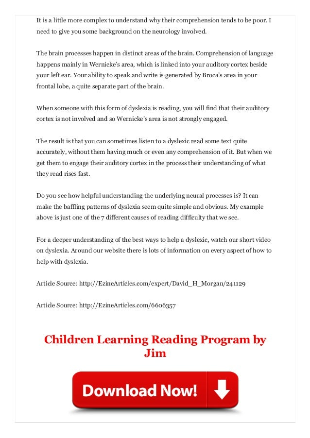 Understanding Dyslexia And Reading >> Understand Dyslexia To Make Helping A Child Learn To Read Easy