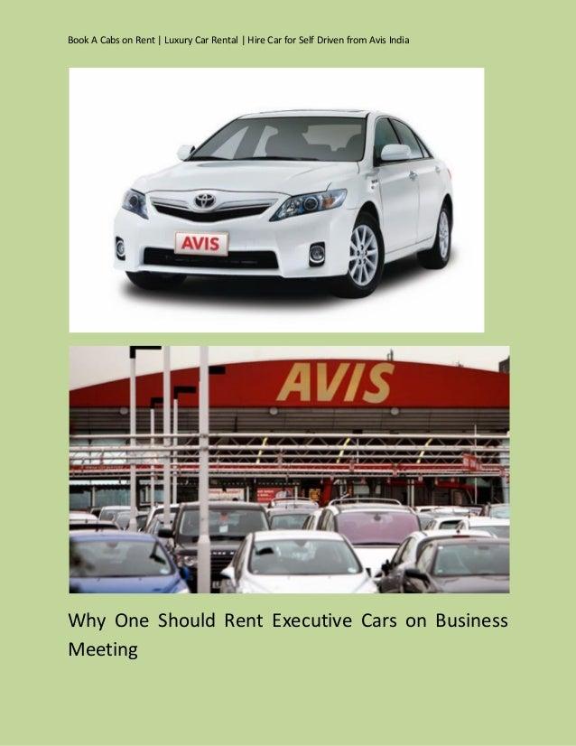 Avis Rental Car In India