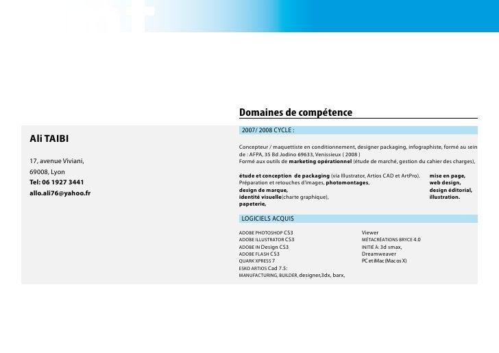 Print                       Domaines de compétence                        2007/ 2008 Cycle : Ali TAIBI                    ...