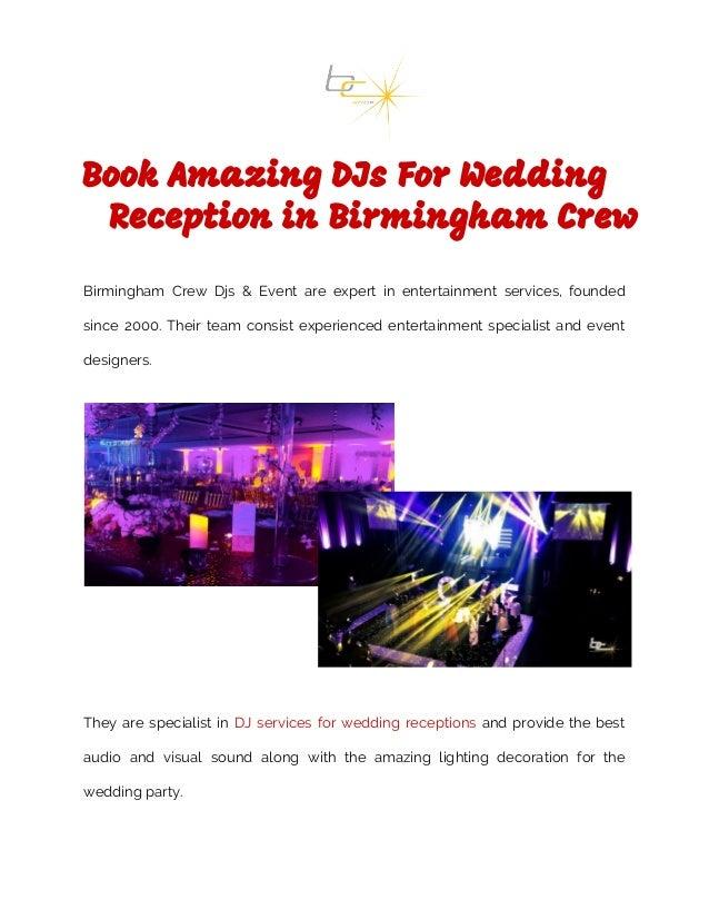 Book Amazing Djs For Wedding Reception In Birmingham Crew