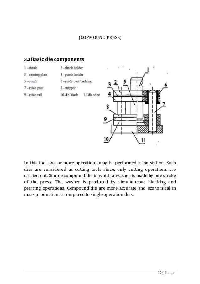 project reportcommon bending tool design for two sheet metal compone rh slideshare net press tool design guide Cast Tool Design Solution