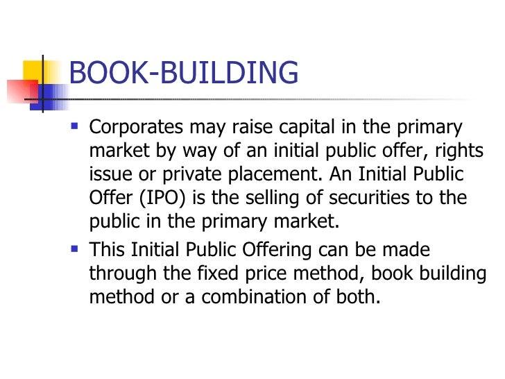 Book bulding method ipo