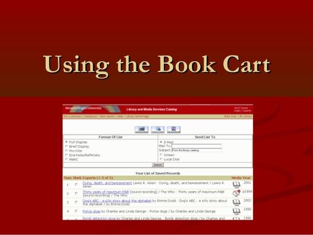 Using the Book CartUsing the Book Cart