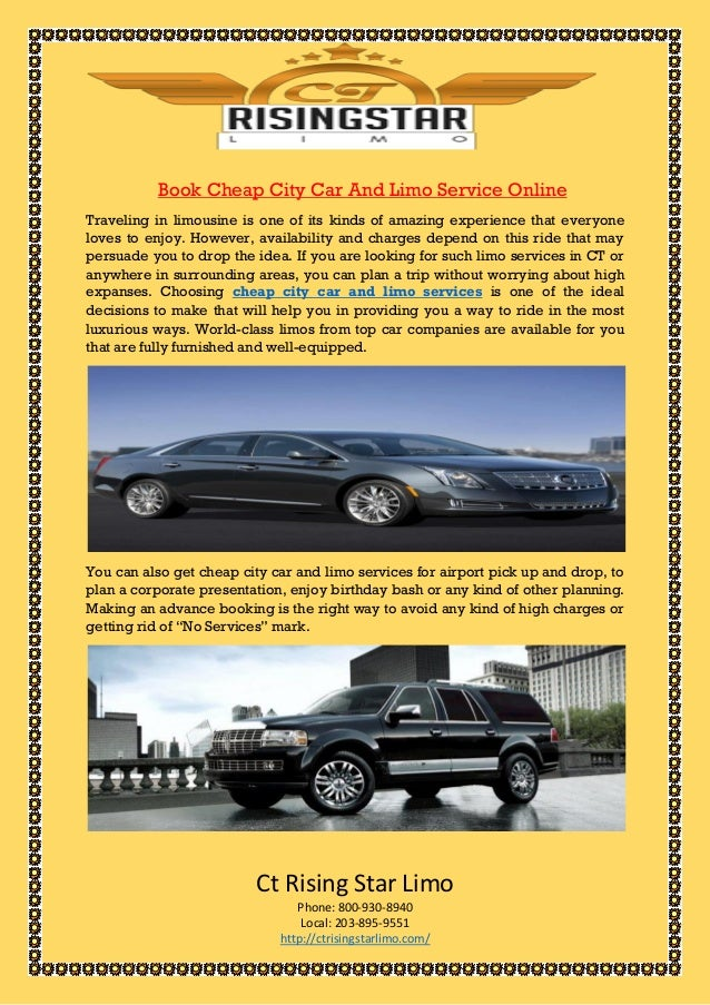 Book cheap city car and limo service online