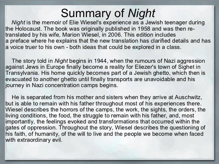 Night by elie wiesel essays