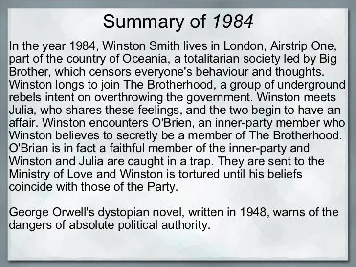 "an analysis of the political power of 1984 a novel by george orwell A rhetorical reading of george orwell's 1984  party in george orwell""s dystopian novel, 1984,  claims that dystopian or political novels, like 1984, ."