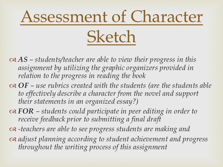 example of character sketch essay