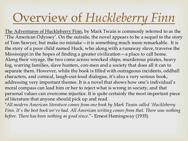 Huckleberry finn essay introduction