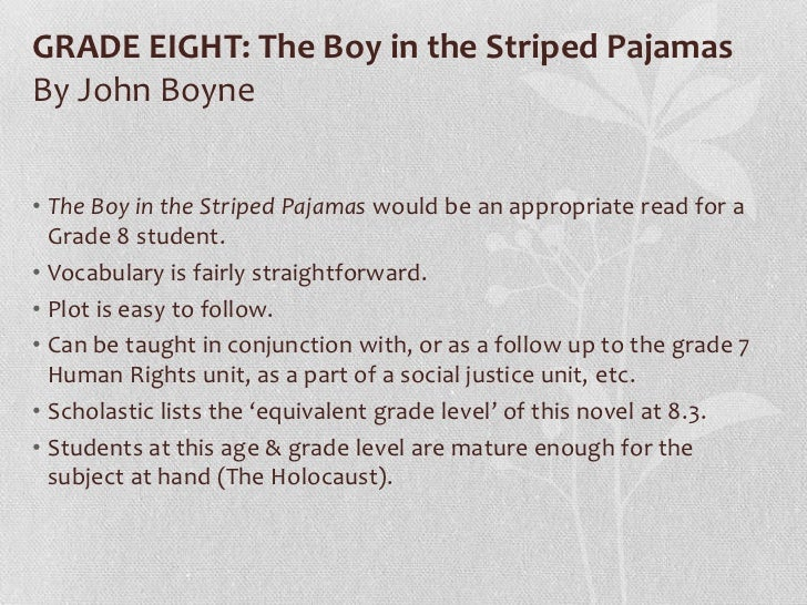 The boy in the striped pyjamas john boyne essay