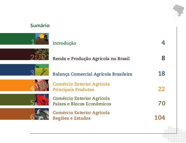 Sumário1         Introdução                                42         Renda e Produção Agrícola no Brasil      83         ...