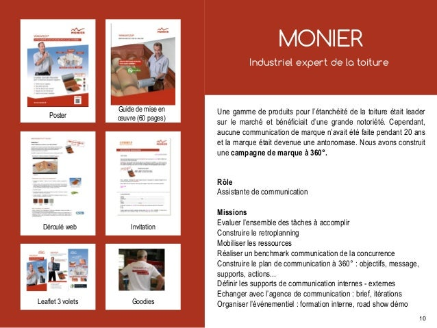 MONIER Industriel expert de la toiture Une gamme de produits pour l'étanchéité de la toiture était leader sur le marché et...
