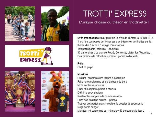 TROTTI' EXPRESS L'unique chasse au trésor en trottinette ! Evénement solidaire au profit de La Voix de l'Enfant le 29 juin...