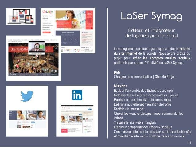 LaSer Symag Editeur et intégrateur de logiciels pour le retail Le changement de charte graphique a induit la refonte du si...