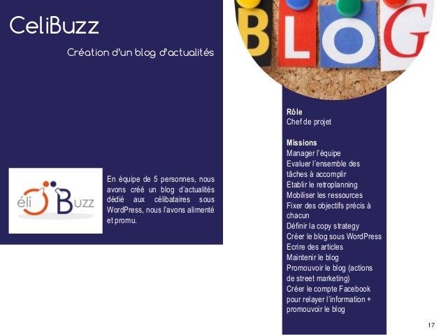 CeliBuzz Création d'un blog d'actualités En équipe de 5 personnes, nous avons créé un blog d'actualités dédié aux célibata...