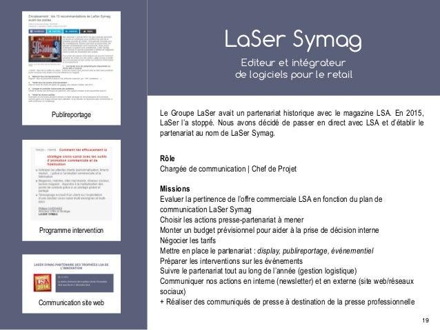 LaSer Symag Editeur et intégrateur de logiciels pour le retail Le Groupe LaSer avait un partenariat historique avec le mag...