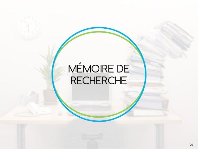 MÉMOIRE DE RECHERCHE 20