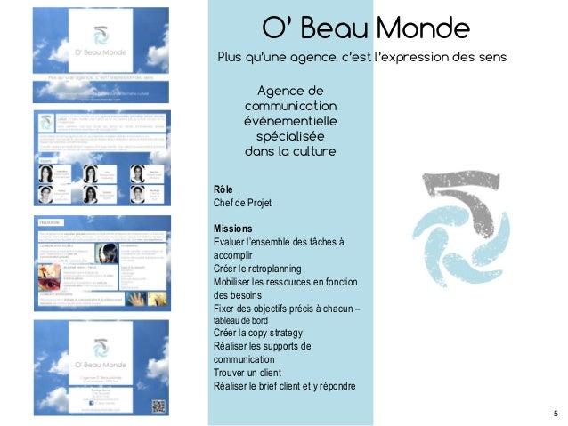 O' Beau Monde Plus qu'une agence, c'est l'expression des sens Agence de communication événementielle spécialisée dans la c...