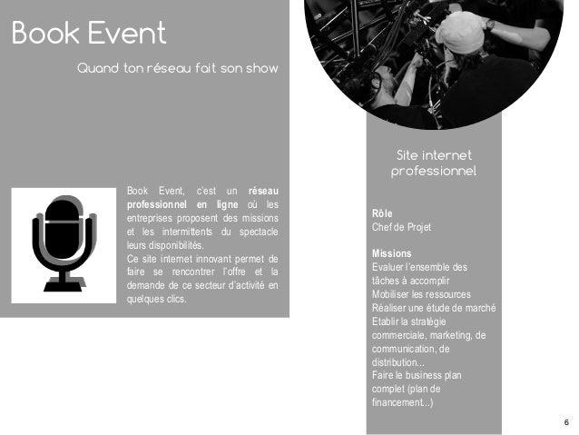 Book Event Quand ton réseau fait son show Book Event, c'est un réseau professionnel en ligne où les entreprises proposent ...