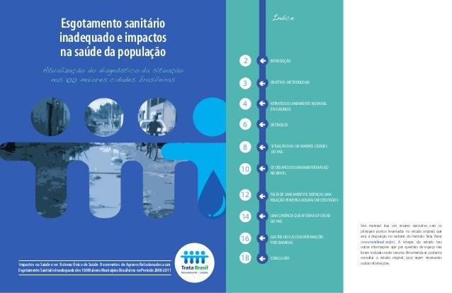 Impactos na Saúde e no Sistema Único de Saúde Decorrentes de Agravos Relacionados a um Esgotamento Sanitário Inadequado do...