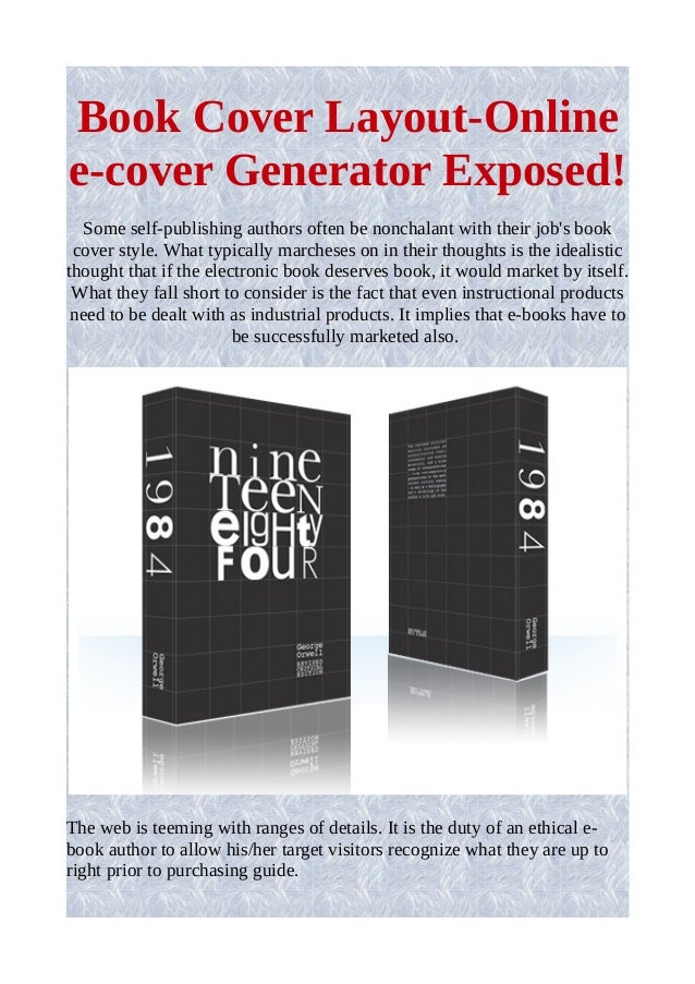 Book Cover Design Generator : Book cover layout online e generator exposed