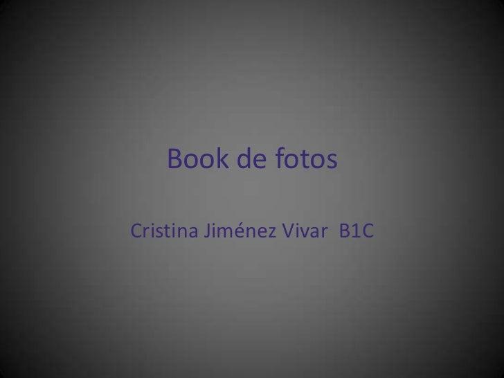 Book de fotosCristina Jiménez Vivar B1C