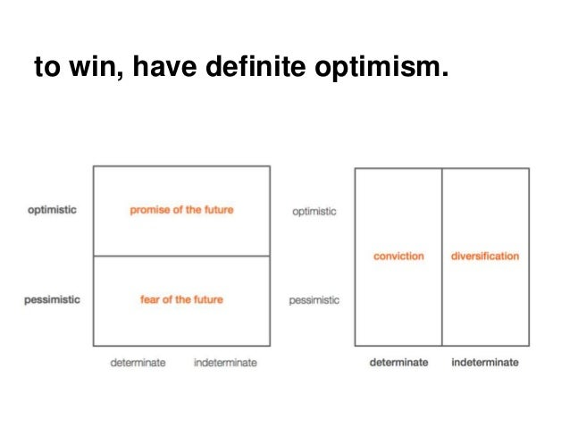 Zero to one book summary report 16 to win have definite optimism ccuart Gallery