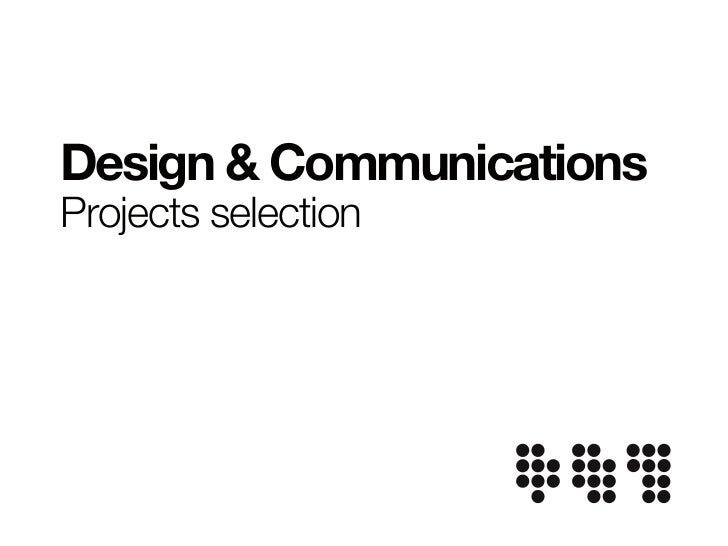 Design & CommunicationsProjects selection