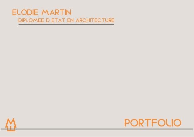 CURRICULUM VITAE  TITRE PROJET  Présentaon  Elodie Marn  née le 14.08.1990 à Vannes (56)  24 bis rue des plantes, appart...