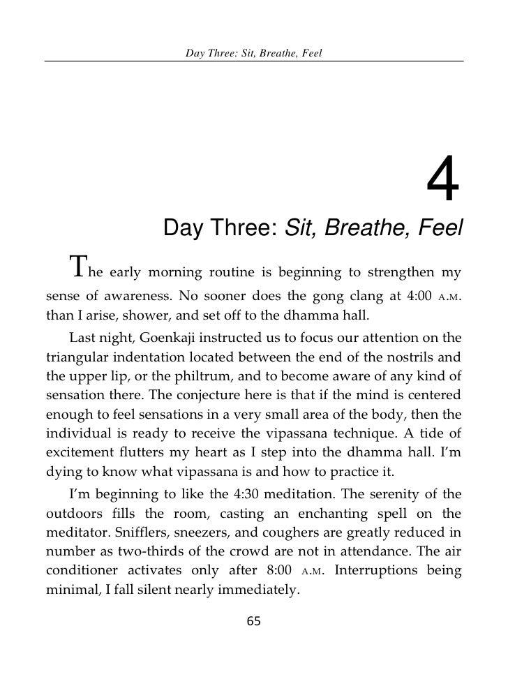 Day Three: Sit, Breathe, Feel                                                              4                   Day Three: ...