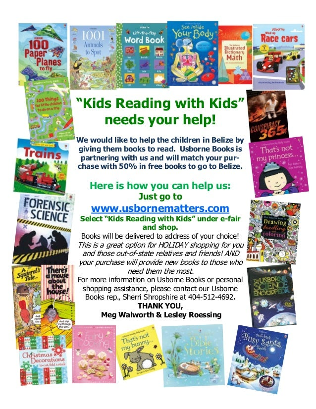 """""""Kids Reading with Kids"""" needs your help! We would like to help the children in Belize by giving them books to read. Usbor..."""