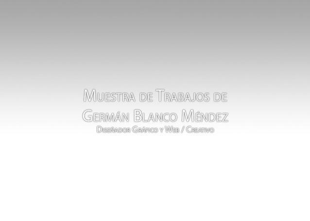 E-book German Blanco Méndez - Diseñador Gráfico - Graphic Designer