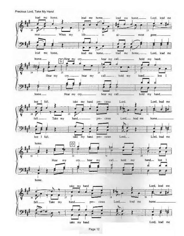 Lyric lyrics to take my hand precious lord : Gospel album iii songbook