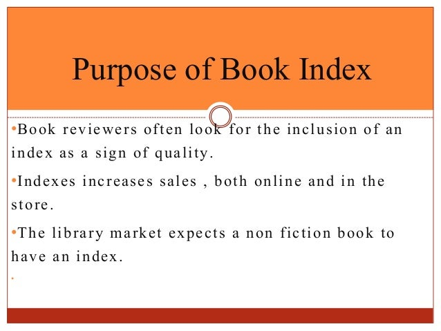 Book indexing