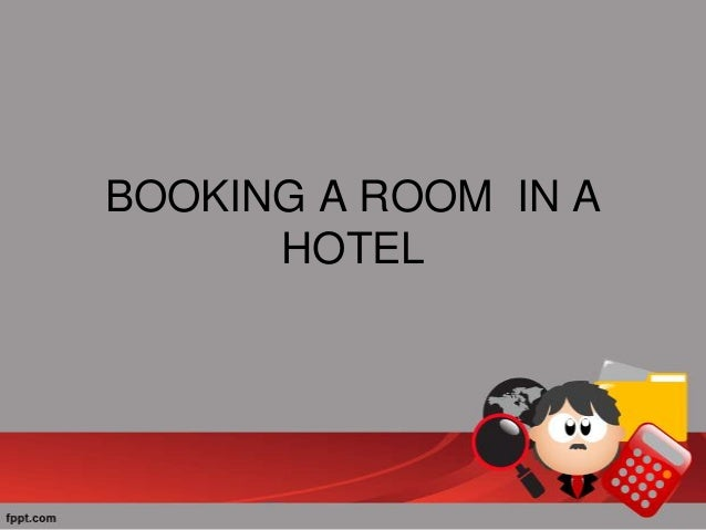Booking A Room Role Play