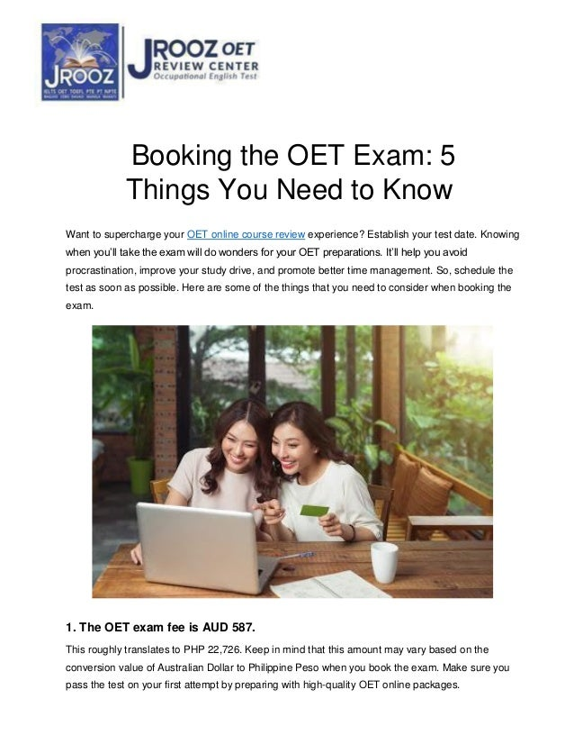 Booking the OET Exam: 5 Things You Need to Know Want to supercharge your OET online course review experience? Establish yo...