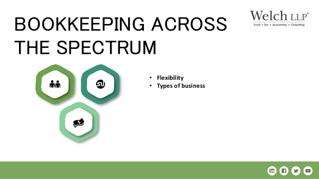 BOOKKEEPING ACROSS THE SPECTRUM • Flexibility • Types of business