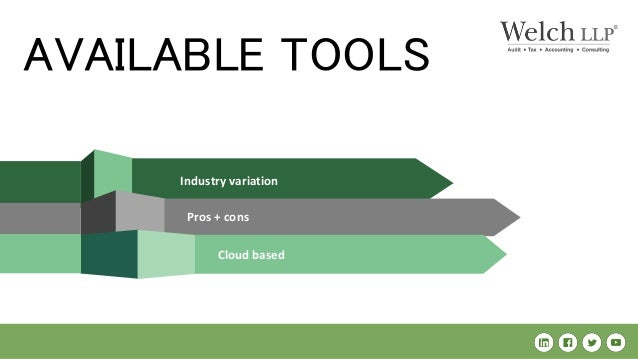 Industry variation Pros + cons Cloud based AVAILABLE TOOLS