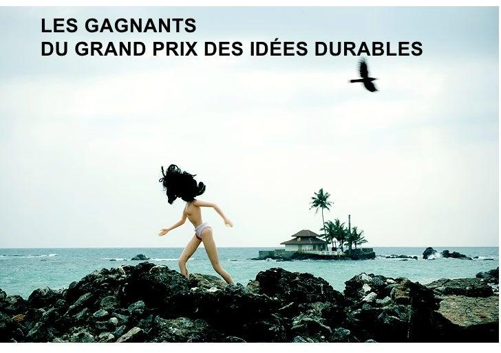 LES GAGNANTS DU GRAND PRIX DES IDÉES DURABLES