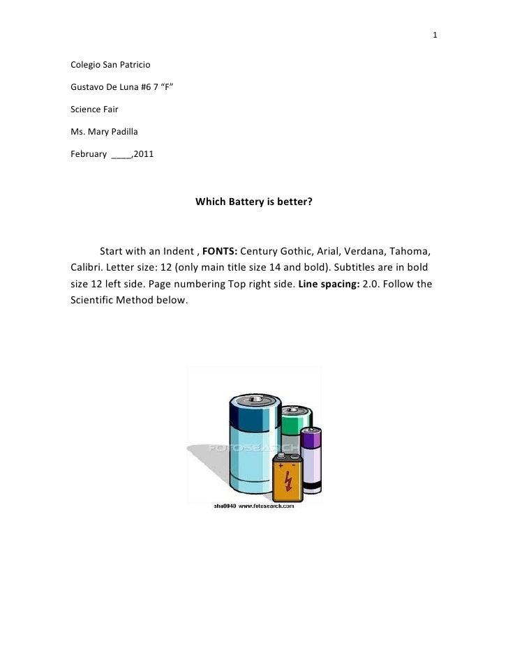 "1Colegio San PatricioGustavo De Luna #6 7 ""F""Science FairMs. Mary PadillaFebruary ____,2011                            Whi..."
