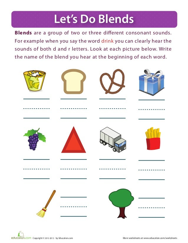 Booklet – Consonant Clusters Worksheets