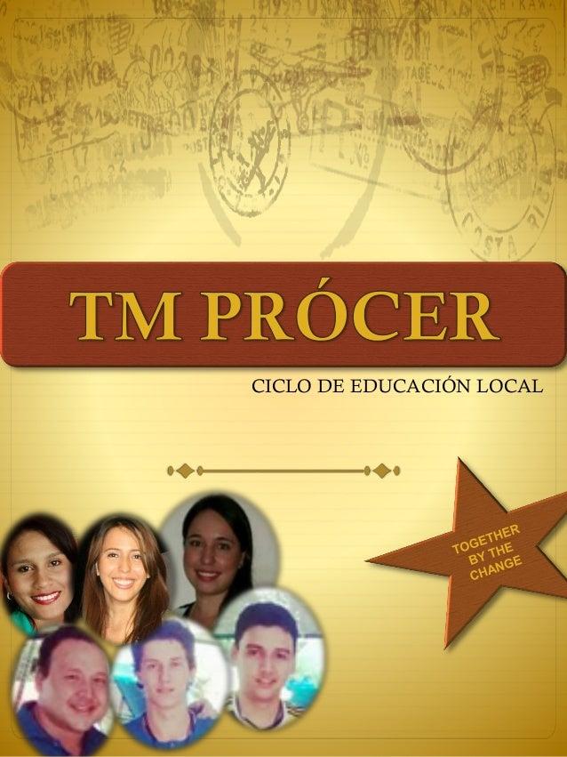CICLO DE EDUCACIÓN LOCAL